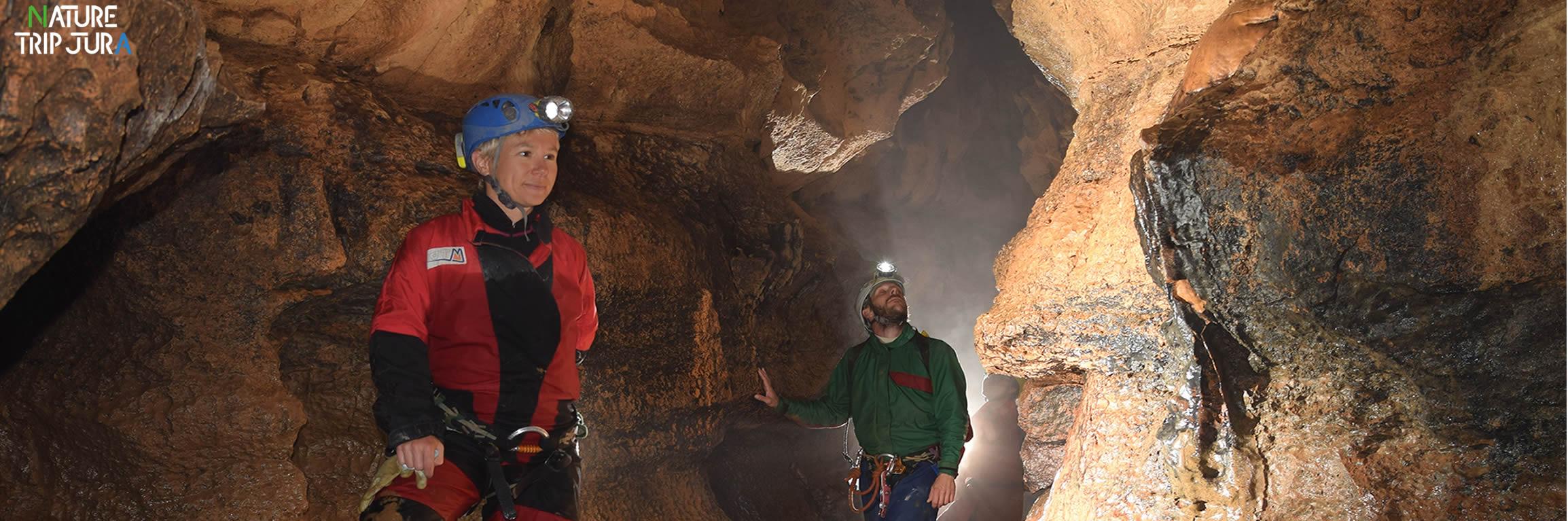 Initiation à la speleo Jura Franche comté avec Nature Trip Jura